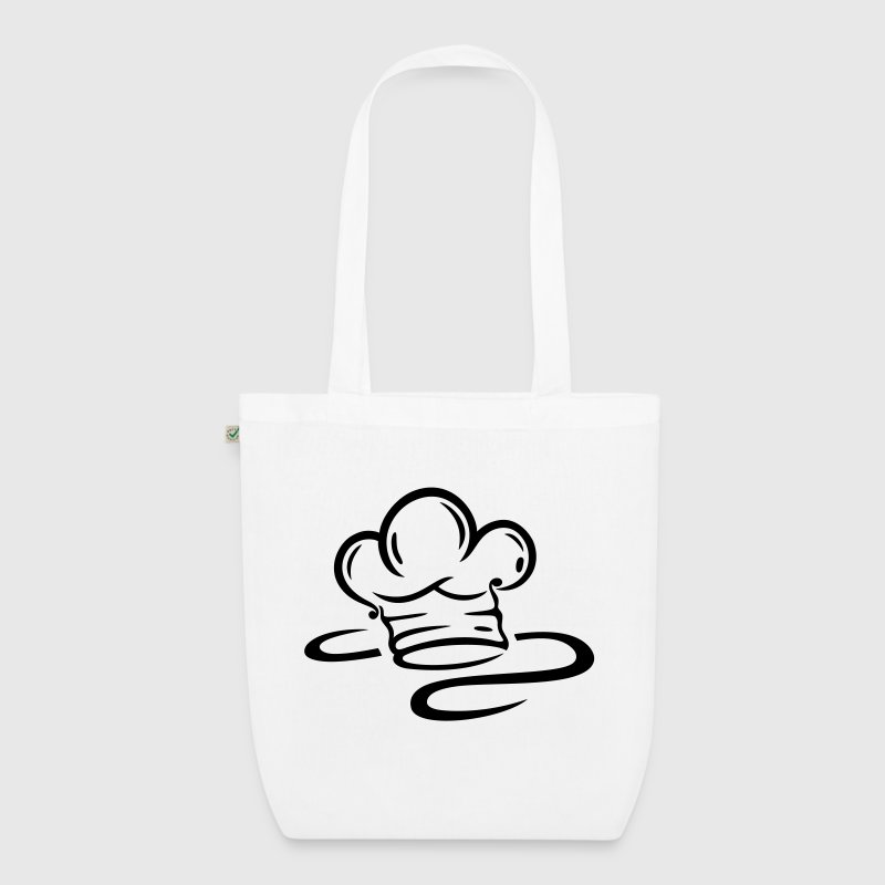 Cooking cap (chef hat) logo. - EarthPositive Tote Bag
