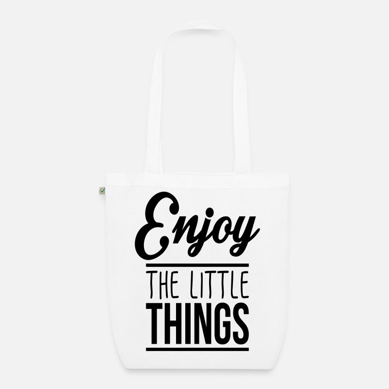 Bestsellers Q4 2018 Bags & Backpacks - Enjoy the little things - Organic Tote Bag white