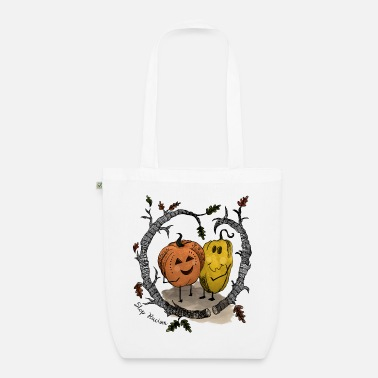 Pumpkin Friends Against Racism - EarthPositive Tote Bag