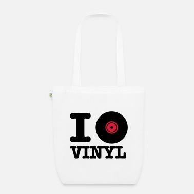 Vinyl i love vinyl - EarthPositive Tote Bag