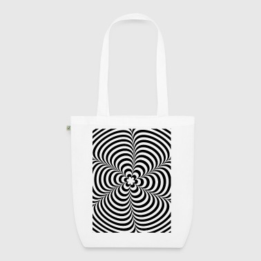 Optical illusion (Impossible) Black & White OP-Art - Bio stoffen tas