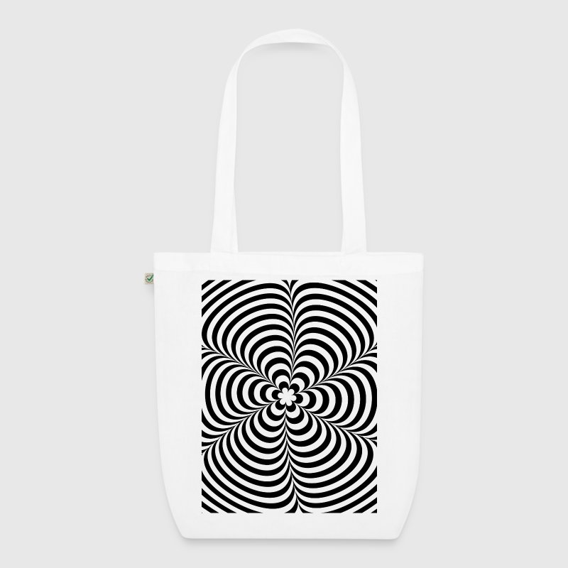 Optical illusion (Impossible) Black & White OP-Art - EarthPositive Tote Bag