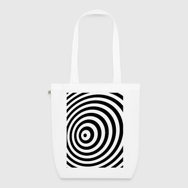 Minimum Geometry illusie in Black & White OP-ART - Bio stoffen tas