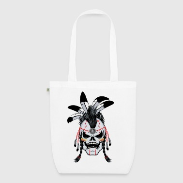 Indian Warrior Skull - EarthPositive Tote Bag