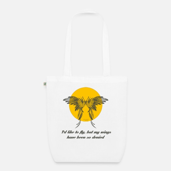 Flight Bags & Backpacks - fly free broken wings - Organic Tote Bag white