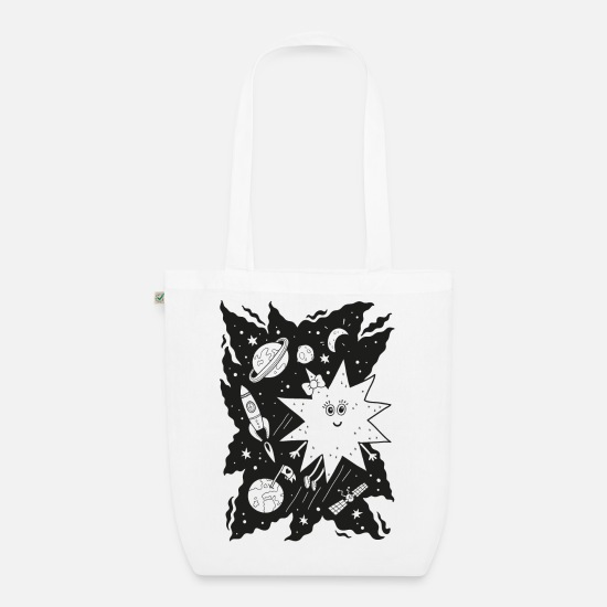 Black Bags & Backpacks - Stella star for coloring - Organic Tote Bag white
