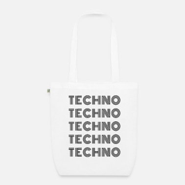 techno - bananaharvest - Organic Tote Bag