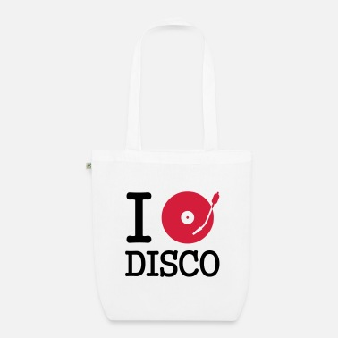 Dj I dj / play / listen to disco - EarthPositive Tote Bag