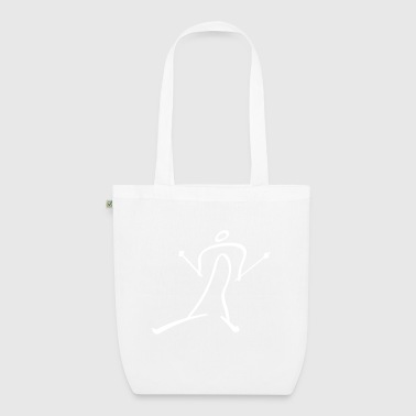 Cross Country Skiing - EarthPositive Tote Bag