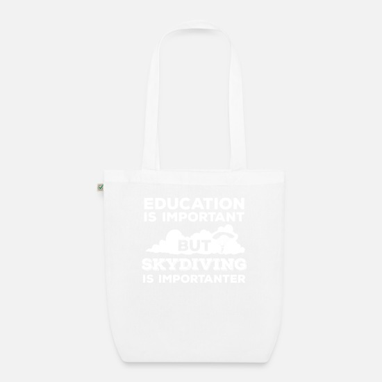Skydiving Bags & Backpacks - Skydiving - Sykdive - Education - Sky - Organic Tote Bag white