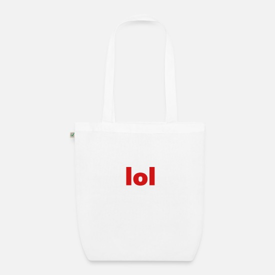Play Bags & Backpacks - lol - Organic Tote Bag white