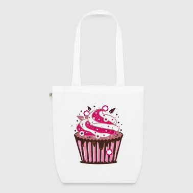 A cupcake with frosting - EarthPositive Tote Bag
