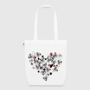 Love my pug - EarthPositive Tote Bag