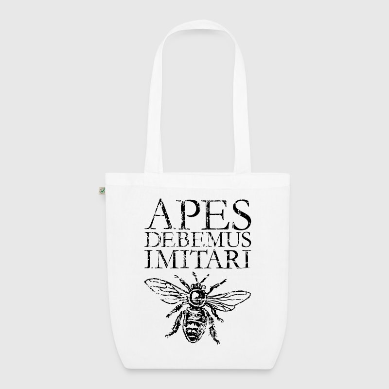 APES DEBEMUS IMITARI Beekeeper Quote Design - EarthPositive Tote Bag