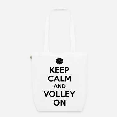 Volley Kepp calm and volley on - Bolsa de tela ecológica