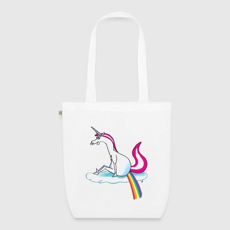 Stoffen Tas Design : Unicorn pooping rainbow eenhoorn stoffen tas spreadshirt