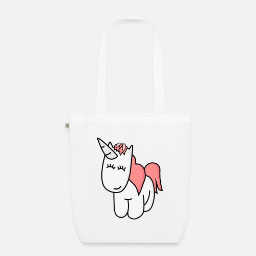 Unicorn yksisarvinen - Luomu-kangaskassi. Edestä 83ffd9095b