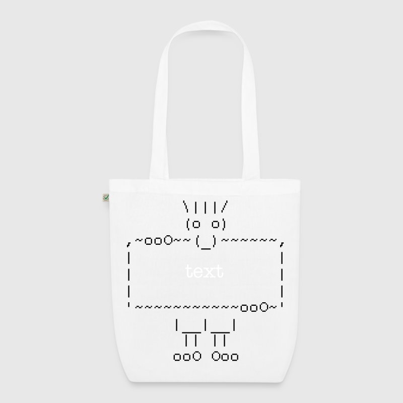 ascii art: troll + your text - EarthPositive Tote Bag