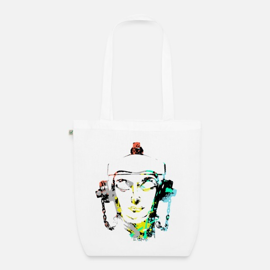 Festivals2017 Bags & Backpacks - Headset Fire Hydrant design by patjila - Organic Tote Bag white