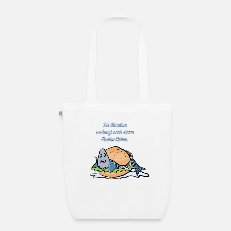 Animal Bags & Backpacks - Fischbroetchen - Organic Tote Bag white