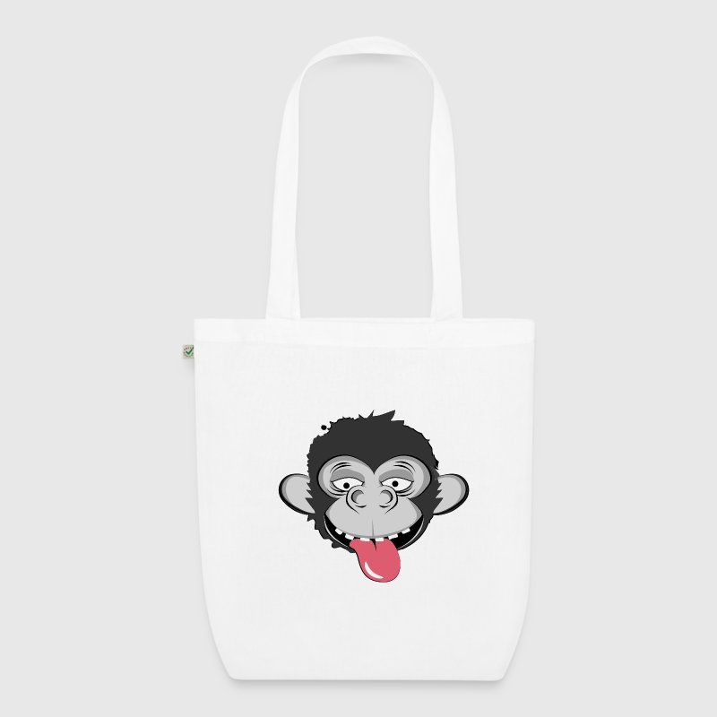 A naughty monkey - EarthPositive Tote Bag