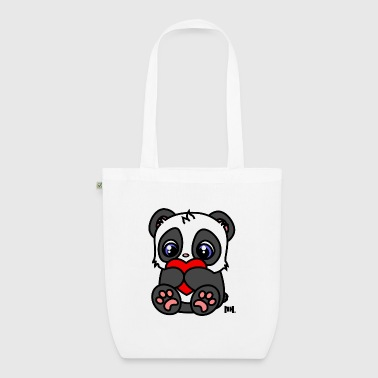 Little Heart Panda - Bio-Stoffbeutel