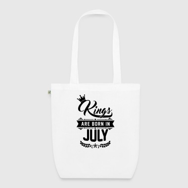 Kings are born in July - Borsa ecologica in tessuto