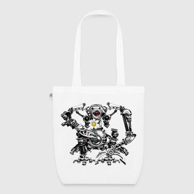 Steampunk/Cyberpunk Robot with a flower Teenager's - EarthPositive Tote Bag