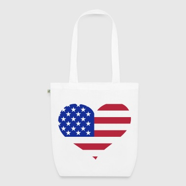 USA  Herz; Heart USA - EarthPositive Tote Bag