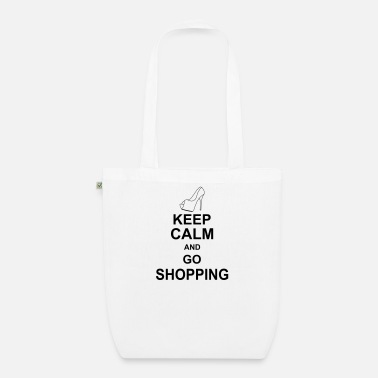 Shopping keep calm and go shopping kg10 - Bio Stoffbeutel