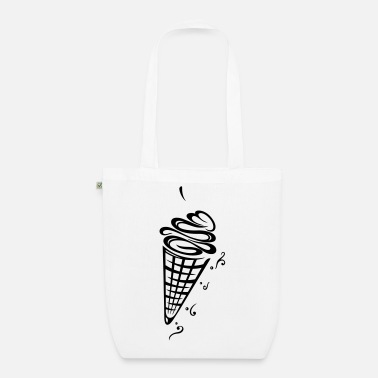 Tribal Ice cream with waffle, cherry and stars - EarthPositive Tote Bag