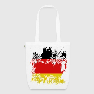 Flagge Deutschland Destroyed Effekt - Bio-Stoffbeutel