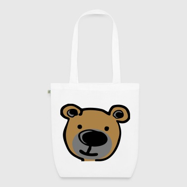 Cartoon Teddy (3 color) vector - Bio-Stoffbeutel