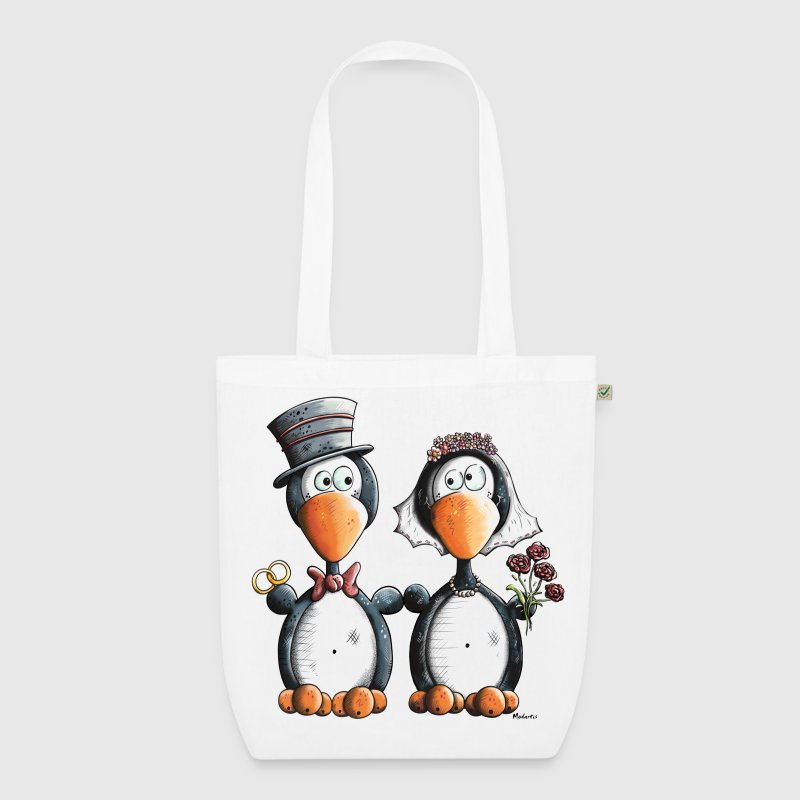 Penguin Wedding - EarthPositive Tote Bag