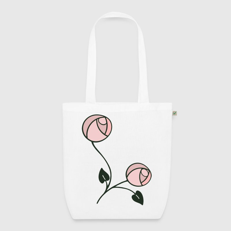 Mackintosh Style Art Nouveau Roses - EarthPositive Tote Bag