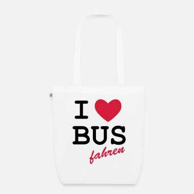 Loret I Love bus travel - Organic Tote Bag