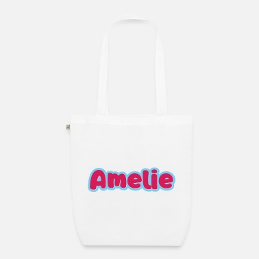 Womens Name Amelie name first name - Organic Tote Bag