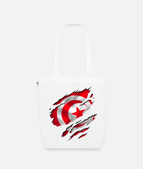 Peace Design Europe World Chad Ghana Tunisian Bags & Backpacks - africa flag tunisia tunisie - Organic Tote Bag white