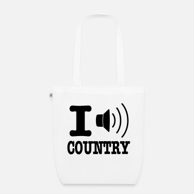 Country I music country / I love country - Ekologisk tygväska