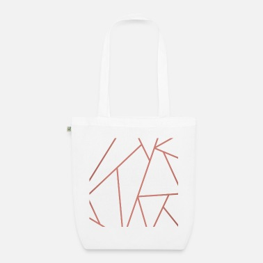 Copper and white geometric background - Organic Tote Bag
