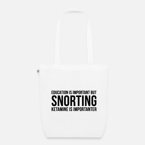 Gift Idea Bags & Backpacks - Ketamine Gift Idea Keta T-Shirt Techno Druffie - Organic Tote Bag white
