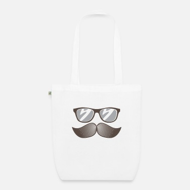 Mustasch Beard with glasses - Organic Tote Bag