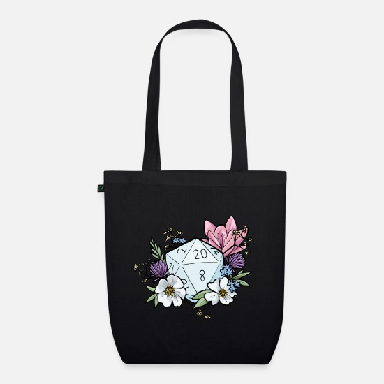 Dungeons And Dragons Bags & Backpacks - DUNGEONS 'n' FLOWERS - Organic Tote Bag black