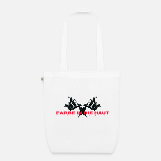 Martial Arts Bags & Backpacks - Color in the skin, blood and ink! - Organic Tote Bag white