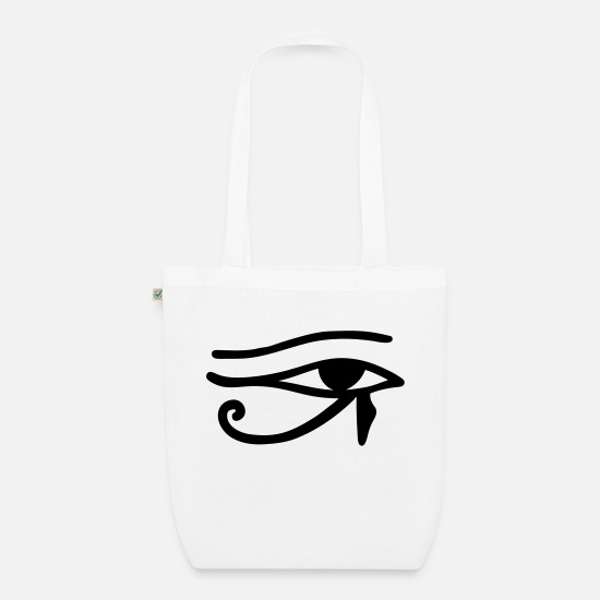 Horus Bags & Backpacks - Eye of Horus - Organic Tote Bag white