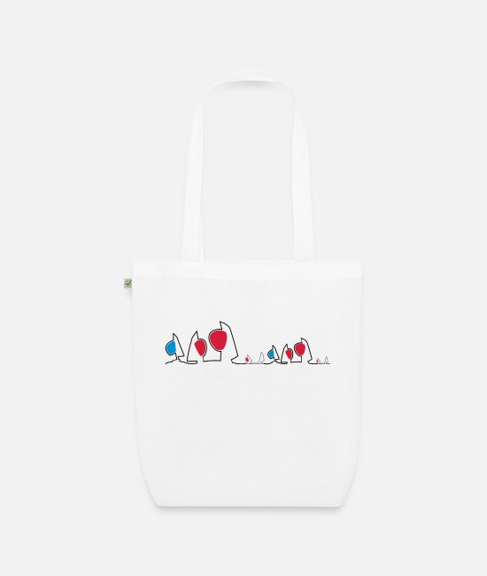 Sail Boat Bags & Backpacks - Regatta skyline - Organic Tote Bag white