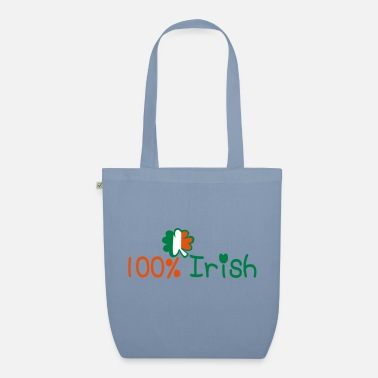 Best Awesome Superb Cool Amazing Identity Ethnicity Race People Language Country Design ♥ټ☘Kiss Me I'm 100% Irish-Irish Rule☘ټ♥ - Organic Tote Bag