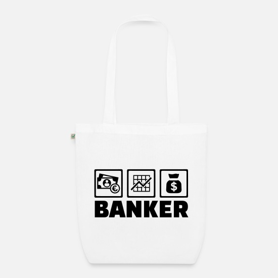 Bank Bags & Backpacks - banker - Organic Tote Bag white