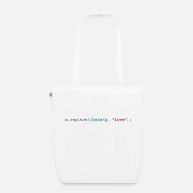 Quote replace hate with love - Organic Tote Bag