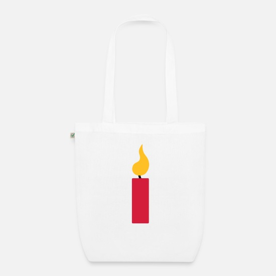 Young Bags & Backpacks - 1st birthday - candle - Organic Tote Bag white
